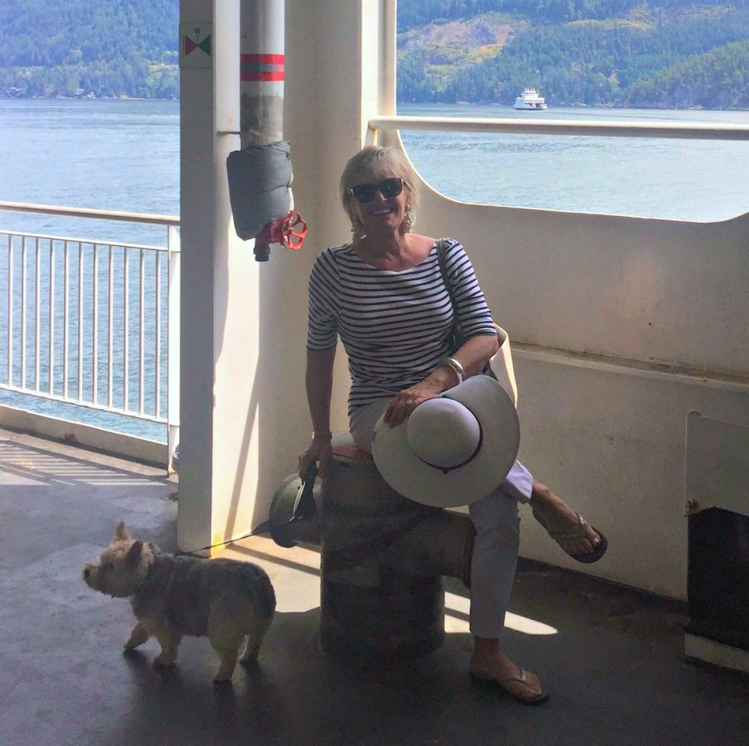 Jennifer Connolly of A Well Styled Life on BC ferry
