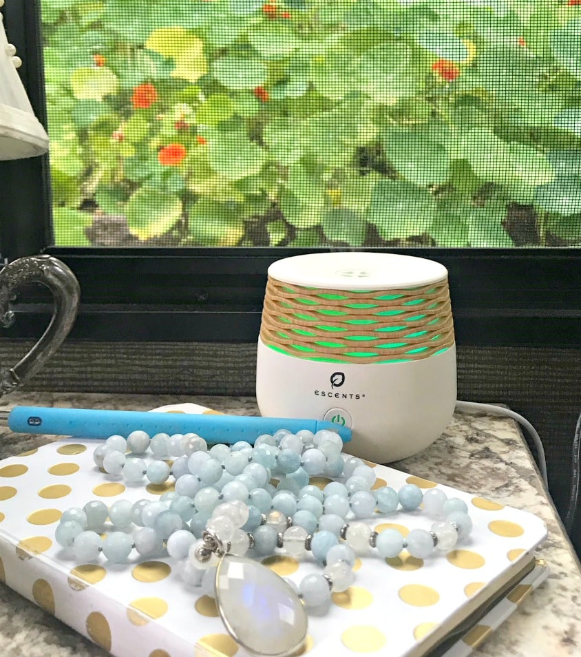 essential oils and gratitude journal on A Well Styled Life
