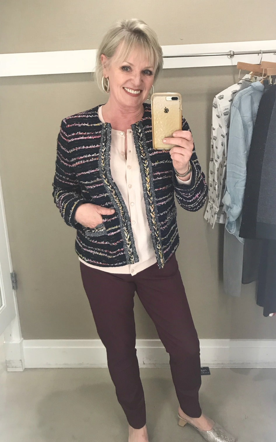 Jennifer Connolly of A Well Styled Life modeling Talbots newest collection