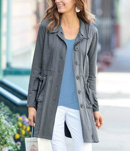 soft knit Sullivan Jacket from Soft Surroundings on A Well Styled Life
