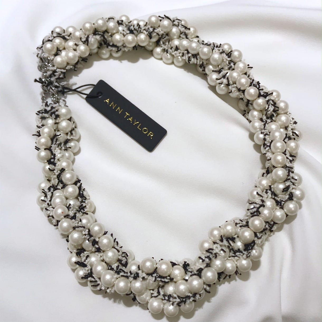 Pearl and Tweed necklace from Ann Taylor on A Well Styled Life