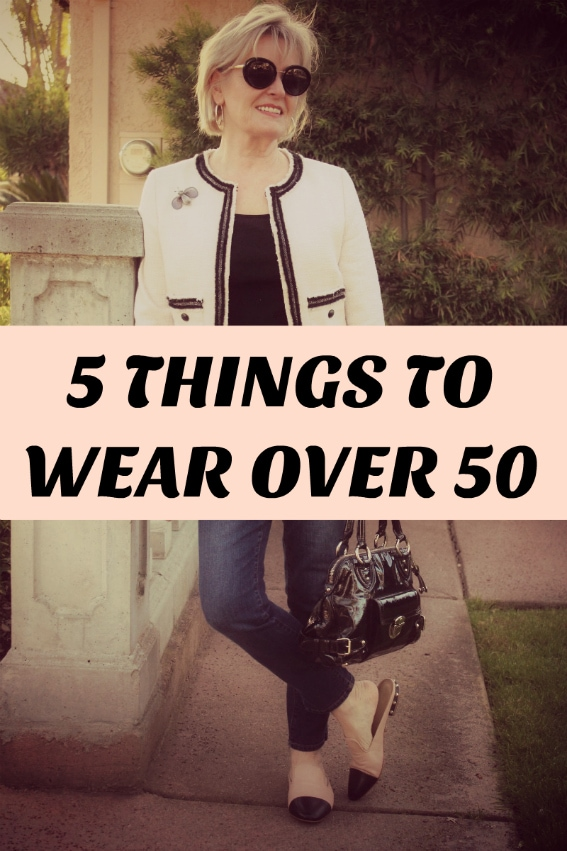Jennifer Connolly of A Well Styled life shares 5 things women should wear over 50