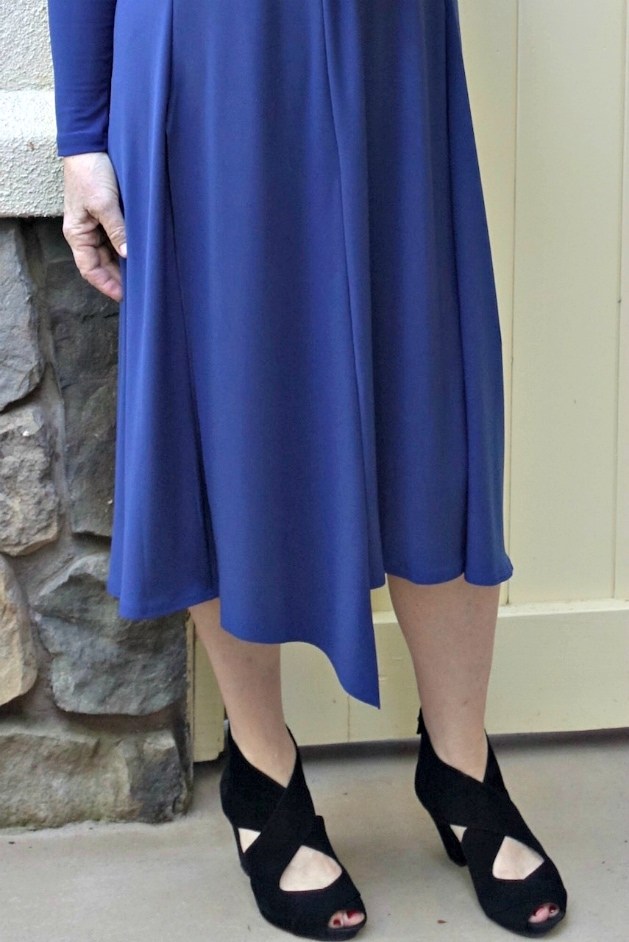 Notched hemline of Isla dress from Artful Home
