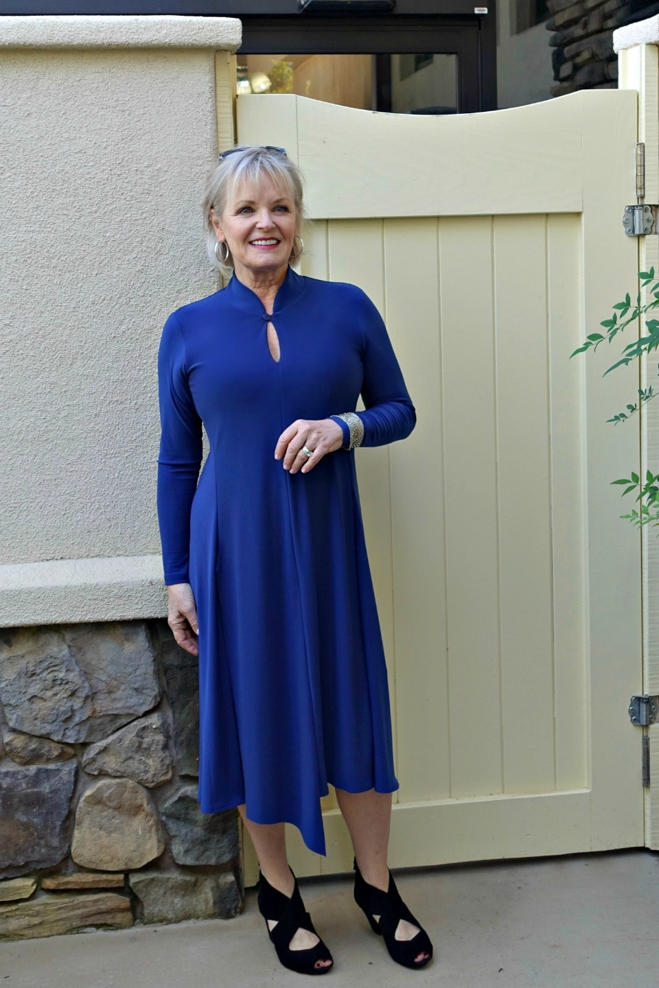Jennifer Connolly or A Well Styled Life wearing Isla dress from Artful Home