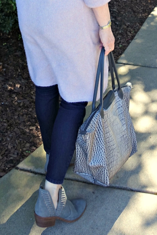 Jennifer Connolly of A Well Styled Life wearing Pevista booties from Nordstrom