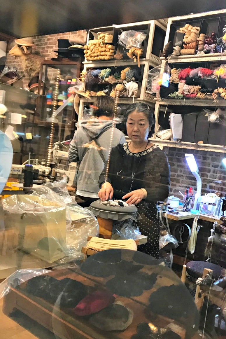 hat makers in CA4LA Tokyo