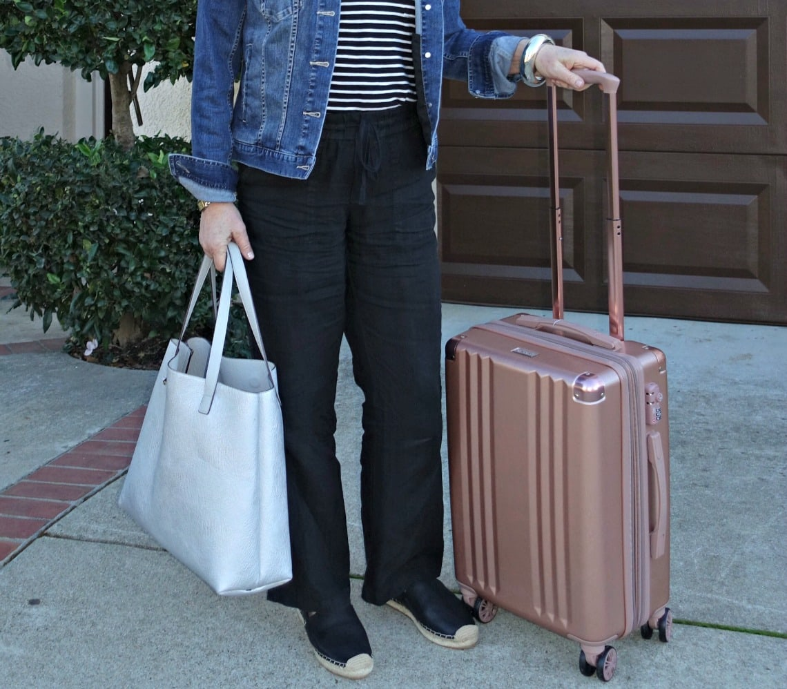 "Calpak 20"" Spinner bag on A Well Styled Life"