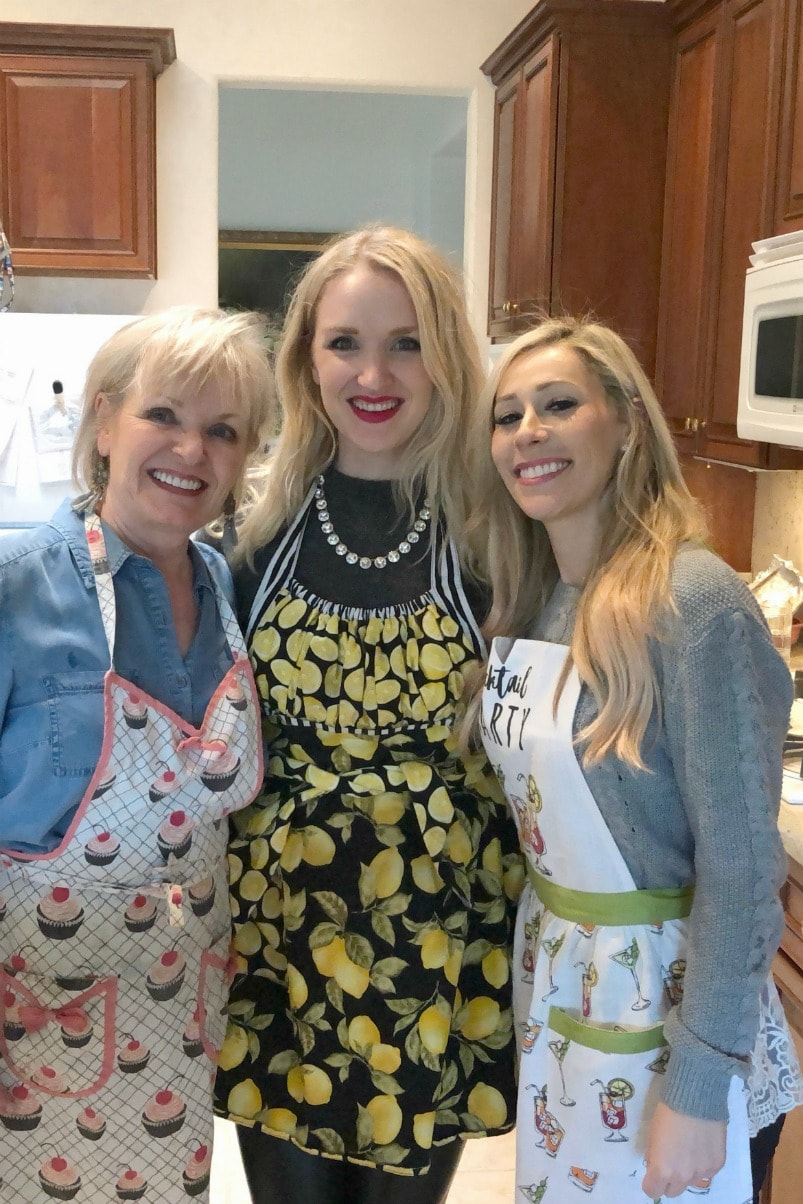 Jennifer and Vanessa Connolly of A Well Styled Life wearing aprons