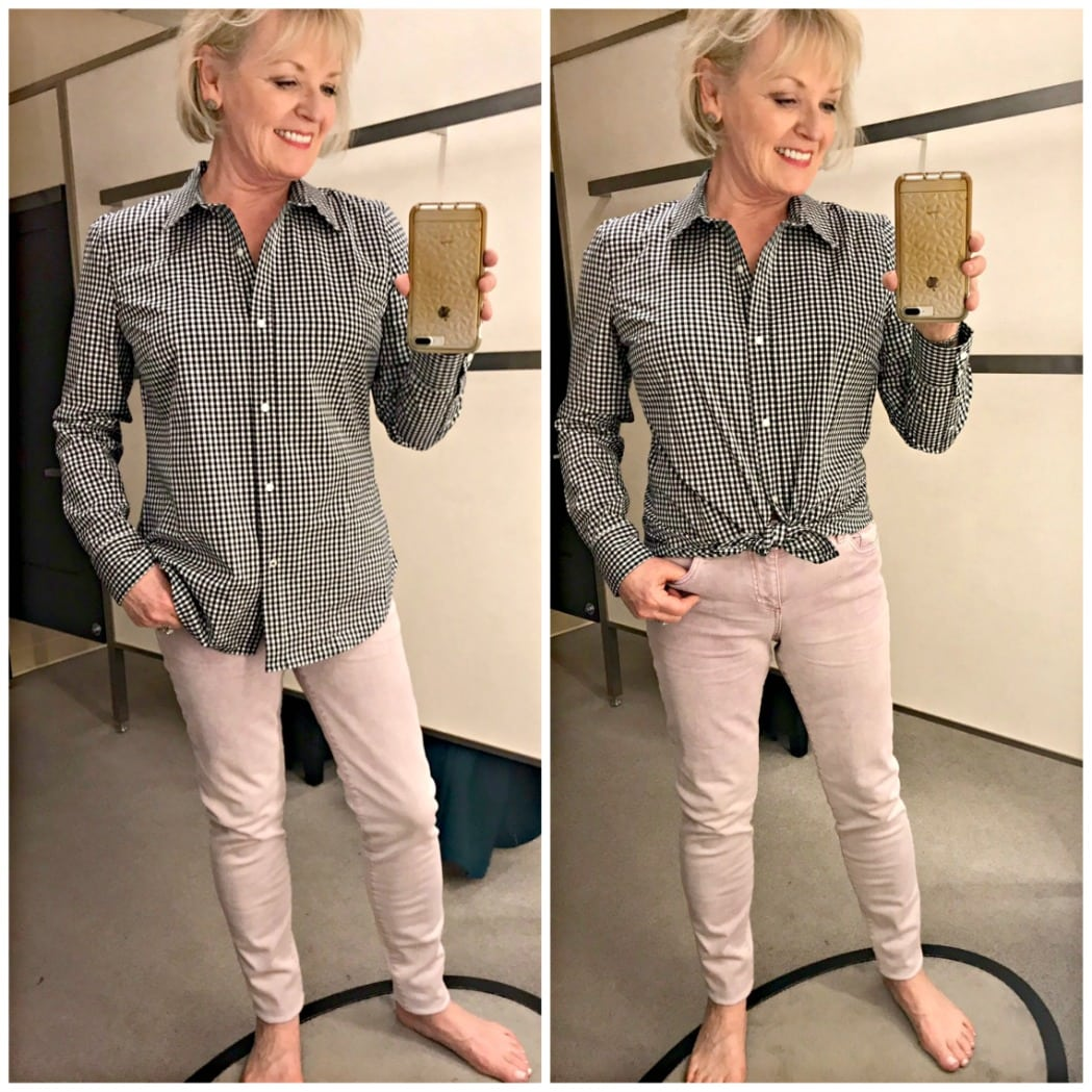 plaid shirt and pants from Nordstrom