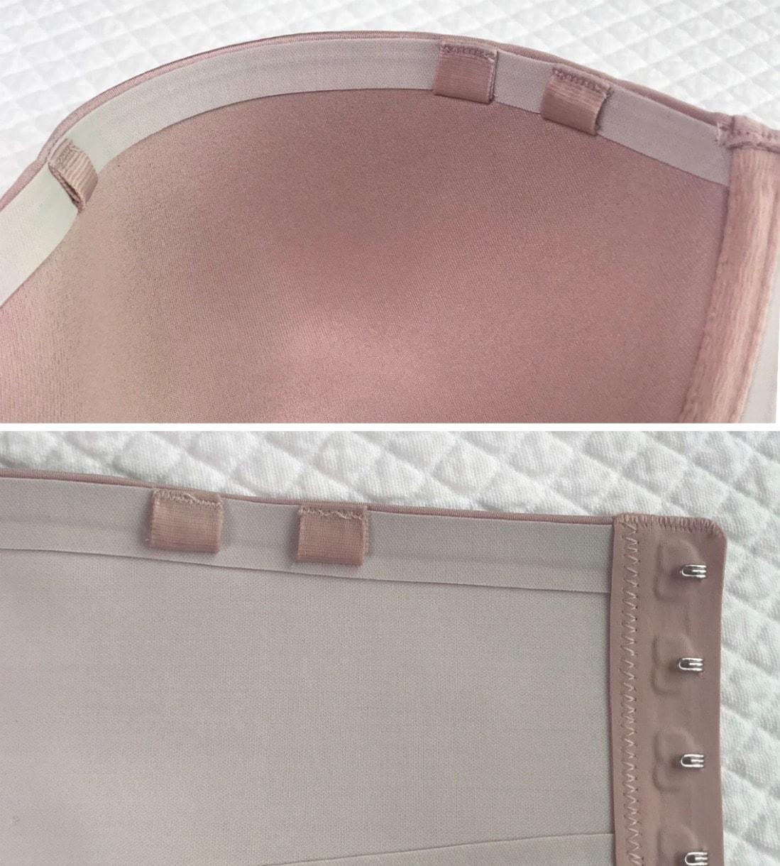 showing adjustable straps on bra