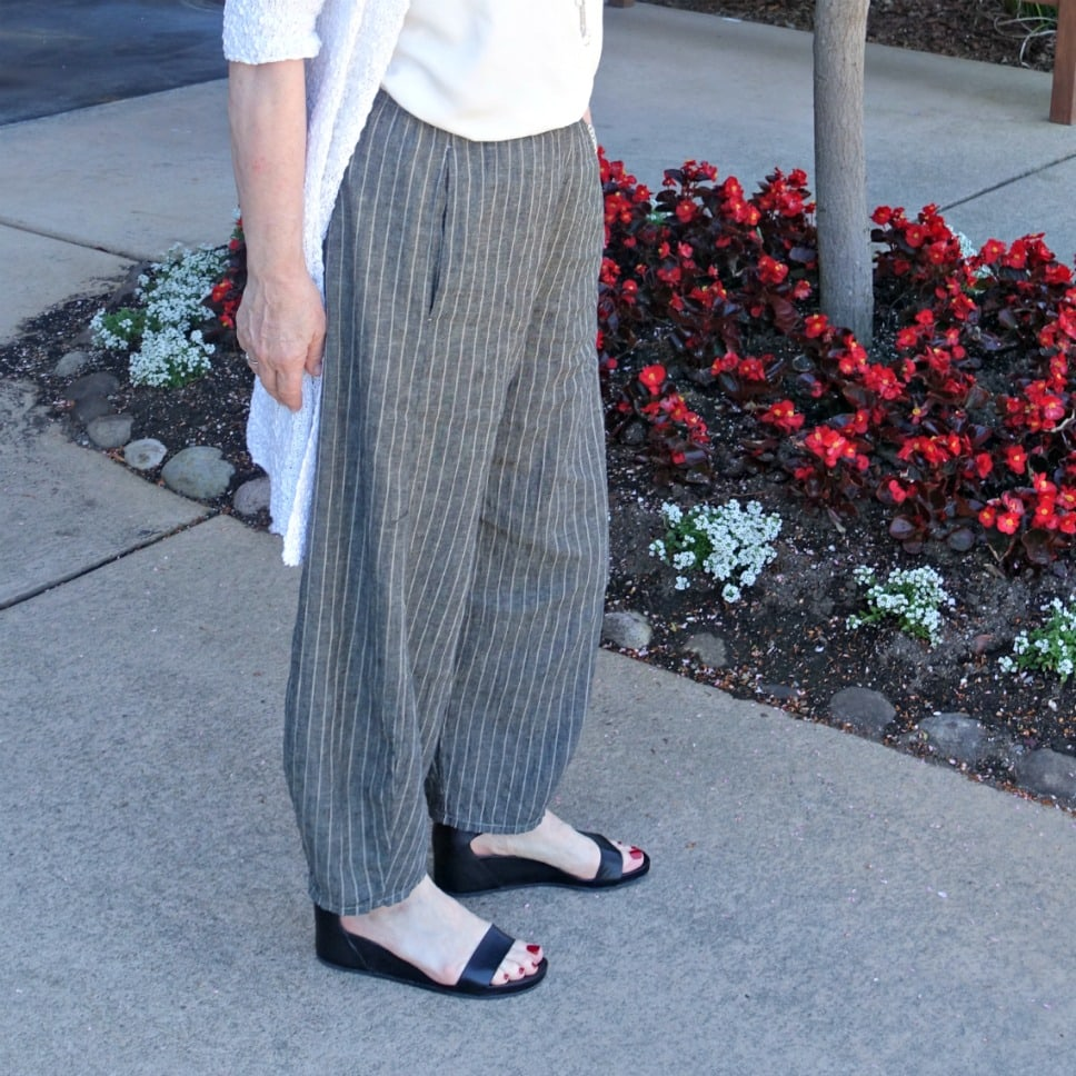 lantern pant shaping example on A Well Styled Life