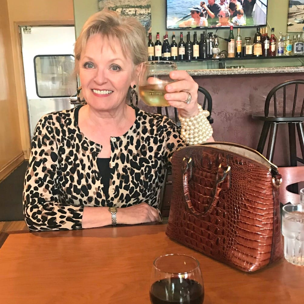 jennifer connolly of a well styled life wearing leopard cardigan