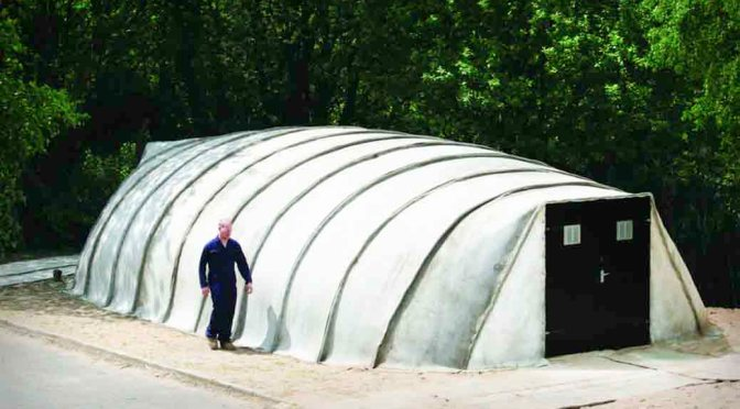 Concrete Cloth – Makes Durable Shelters Within Hours