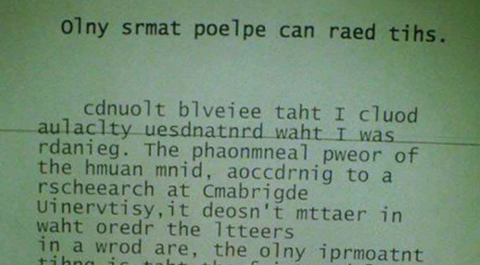 cambridge university letter spelling not important