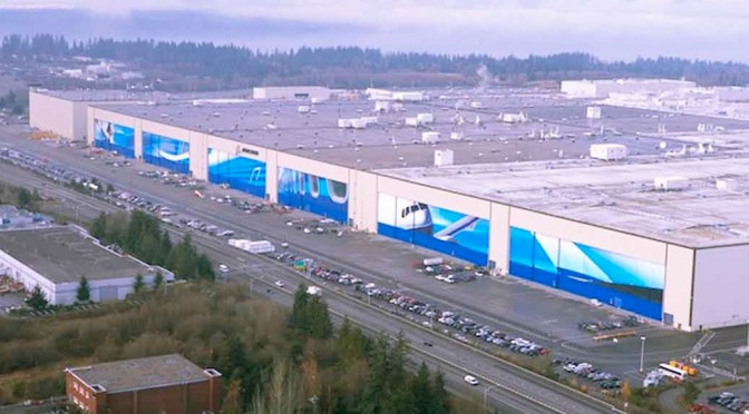 boeing factory largest building