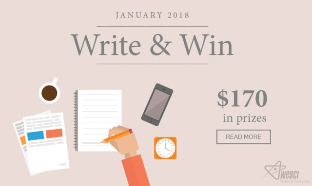 Write And Win $170 In Prizes - January 2018