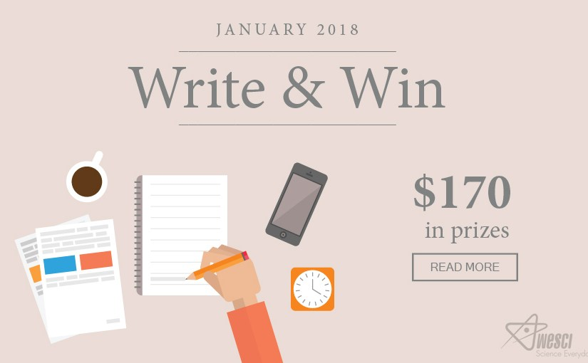 Write and Win $170 in Prizes – January 2018