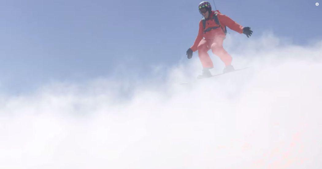 Snowboarding in the clouds Screencap