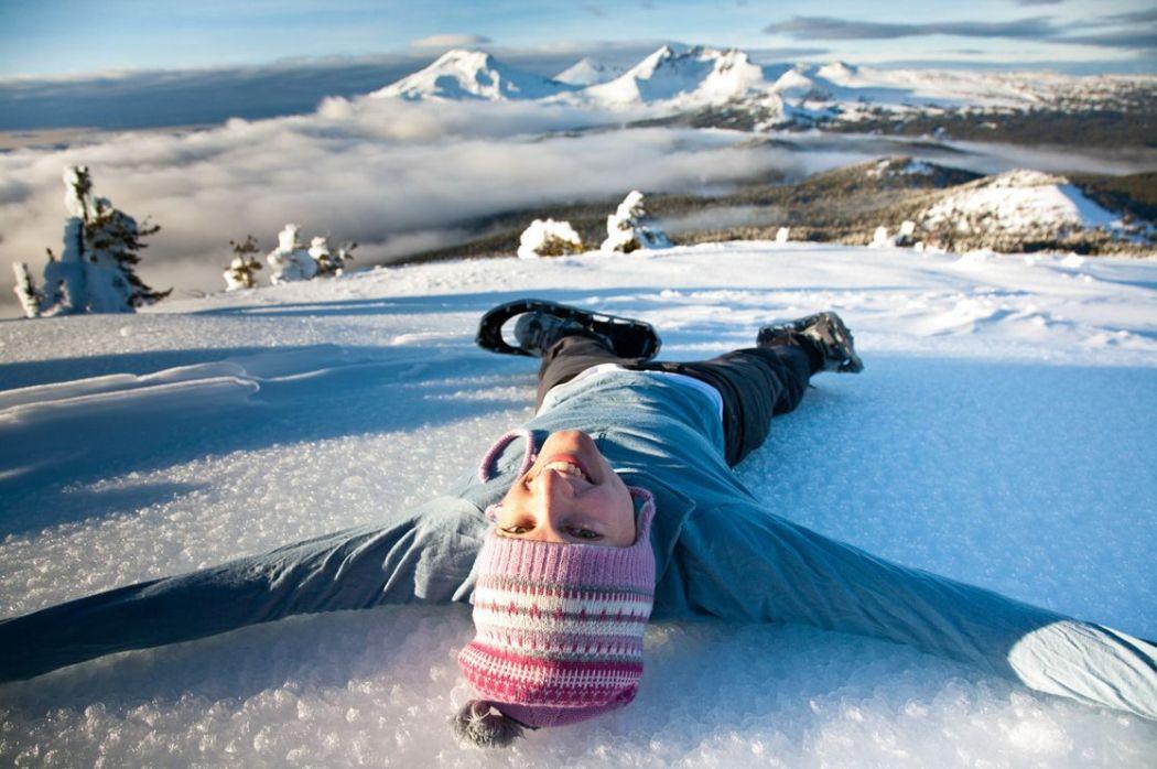 Snowshoe tumalo bend snow