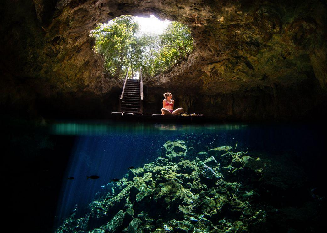 mexico underwater cenote