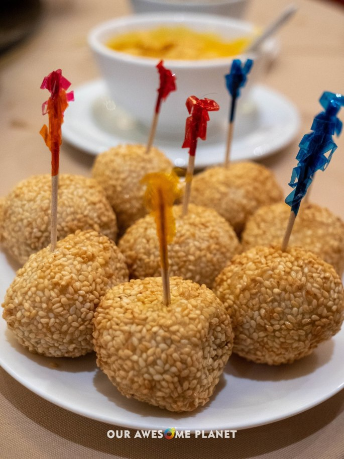 Deep Fried Sesame Ball with Lotus Paste