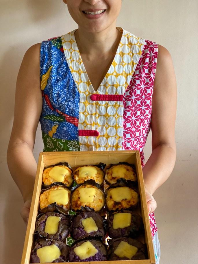 Bibingka Manila. Salted Egg and Cheese (Box of 6 - ₱240) and Limited Edition UBE AND CHEESE (Box of 6 - ₱340)