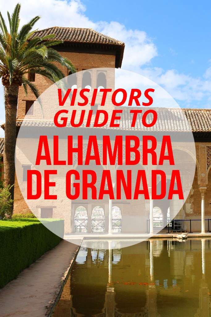 Visitors guide to the Alhambra de Granada, Andalucia, Spain