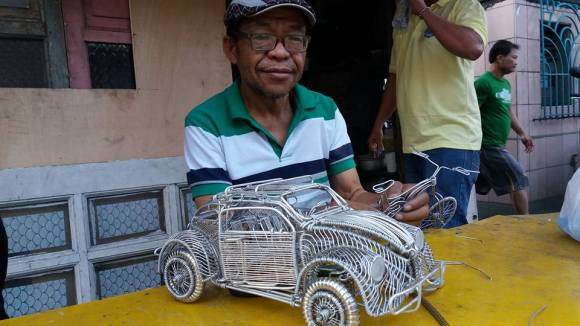 52-Year-Old Filipino Sets The Social Media Abuzz By His Incredible Creations Made From Aluminum Wires image 2