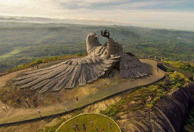 Jatayu Sculpture, Worlds Largest Bird Sculpture In The World