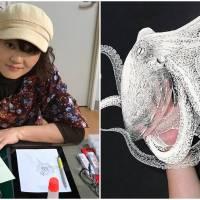 Japanese Veteran Artist Creates Intricate Hand-Cut Kirie Works On Single Sheets Of Paper