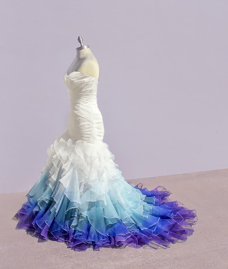 Dip Dye Wedding Dresses By Taylor Ann Linko,Mother Of The Groom Beach Wedding Dresses