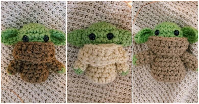 baby yoda crochet doll