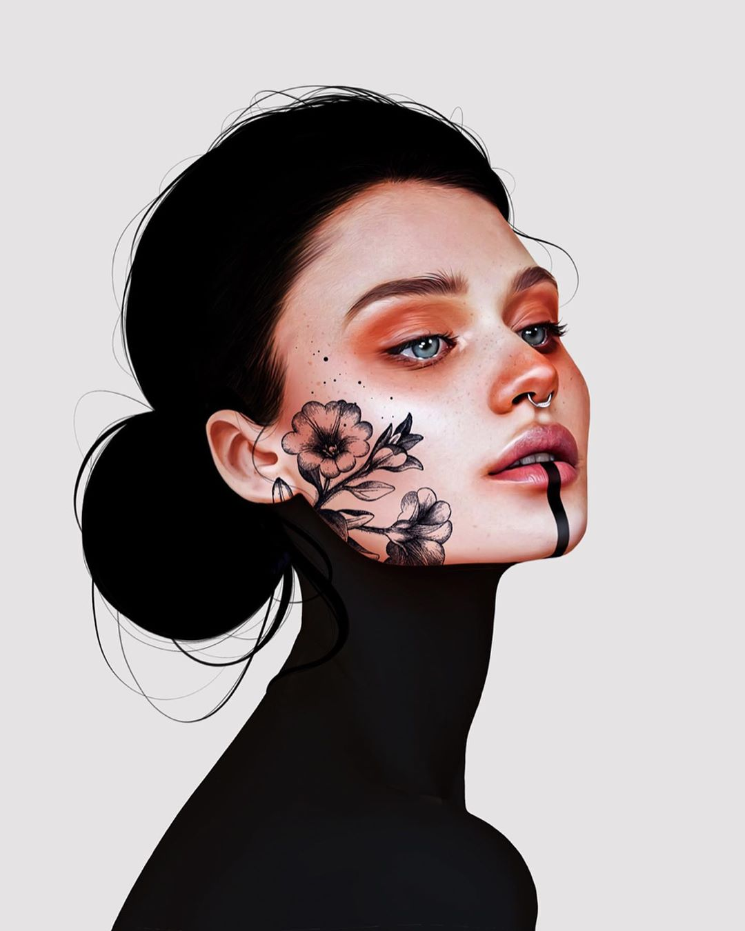 26-Year-Old Digital Artist With Model Looks Creates Stunning Female Illustrations On Tablet 8