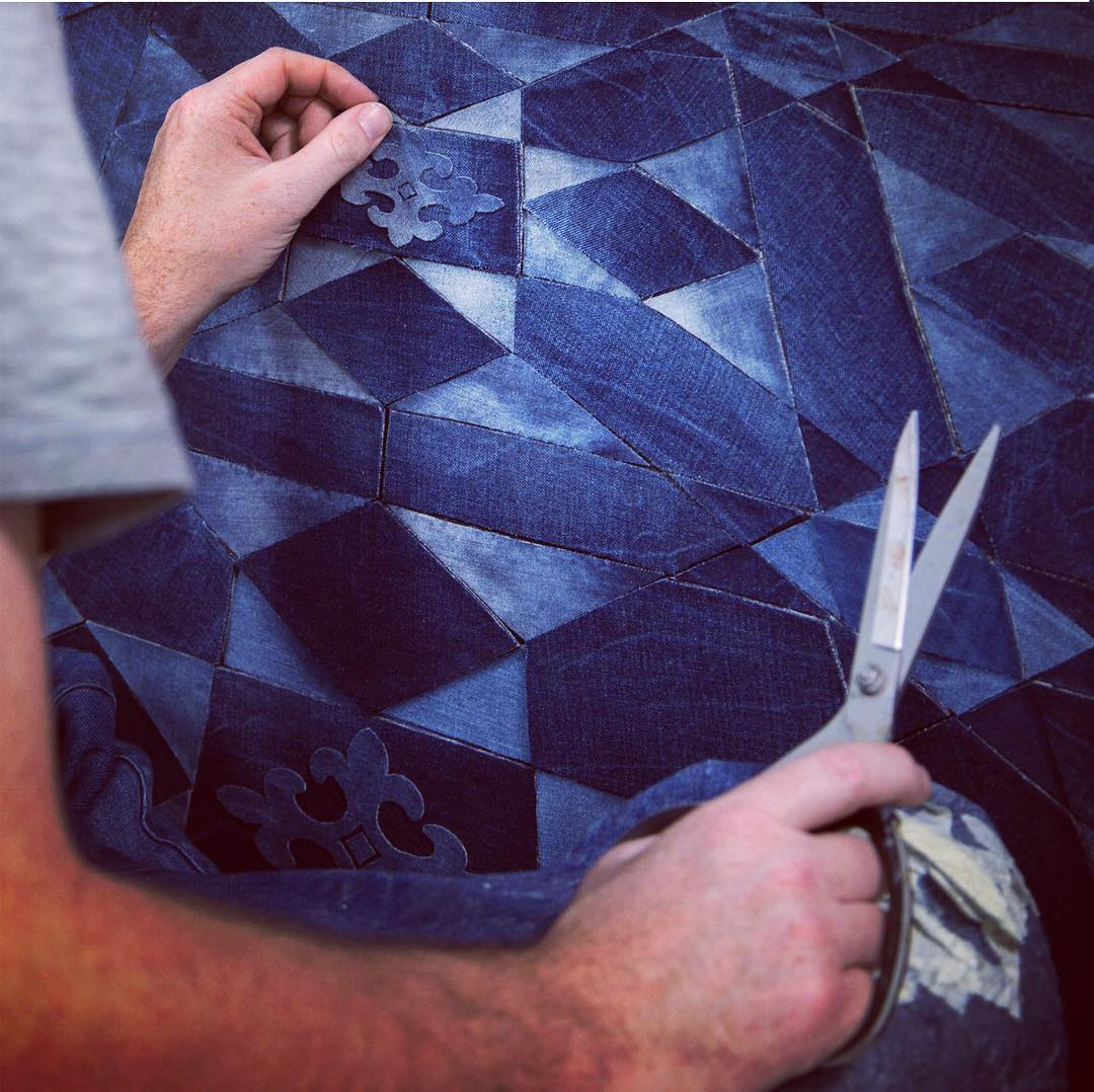 Artist Creates Stunning Works Of Art From Pieces Cut Out Of Denim Jeans 13