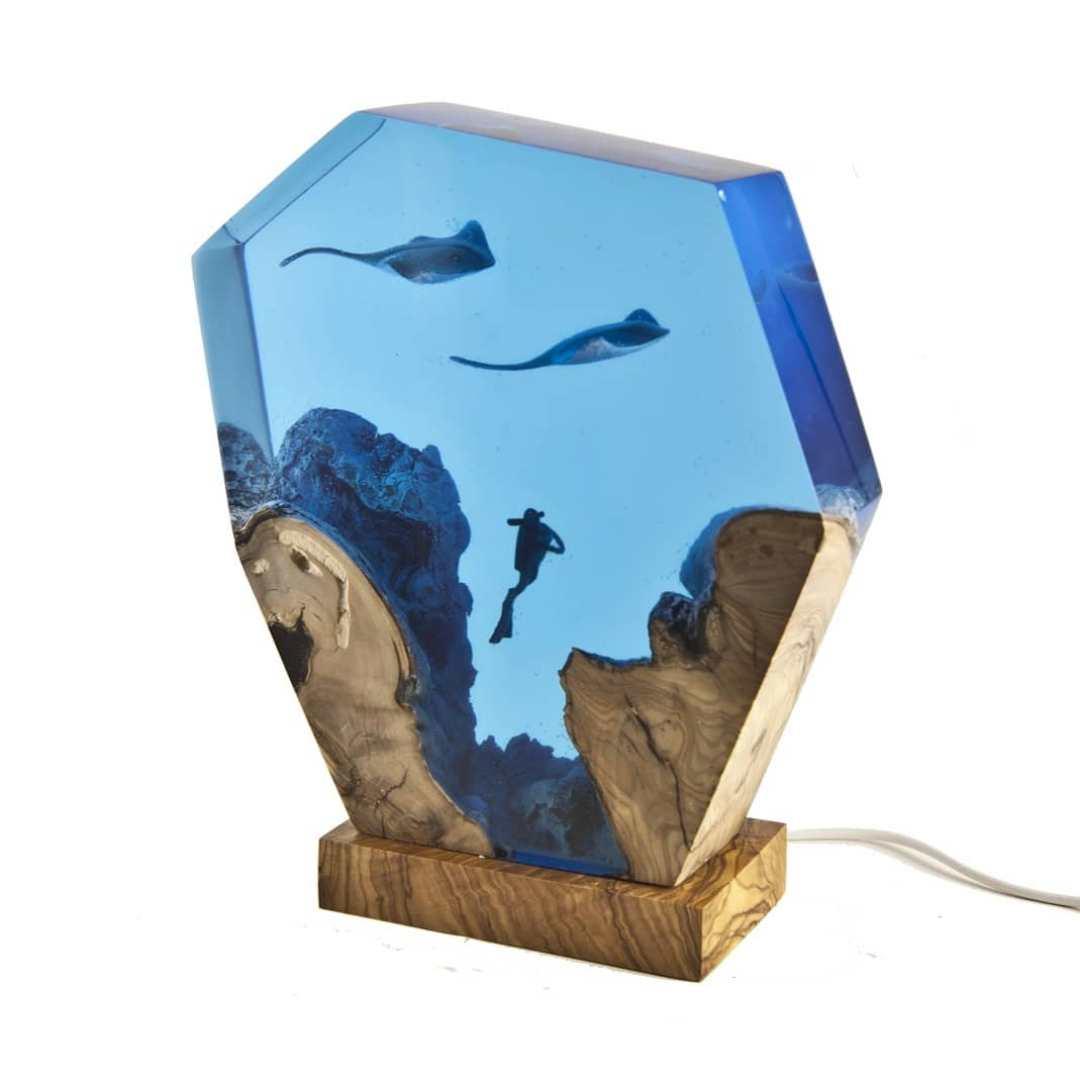 Turkish Artist Beautifully Creates Underwaters Imaginative Scenes With Resin And Wood 2