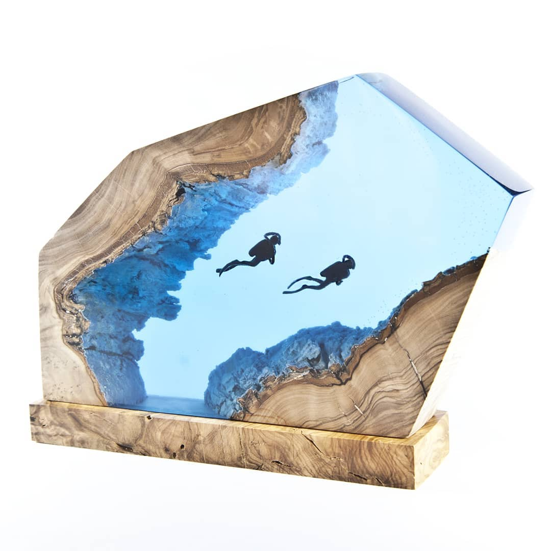 Turkish Artist Beautifully Creates Underwaters Imaginative Scenes With Resin And Wood 6