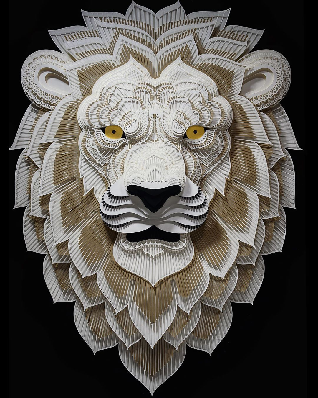 Filipino Sculptor Creates Public Awareness About Endangered Species Through Cut Paper Sculptures 2