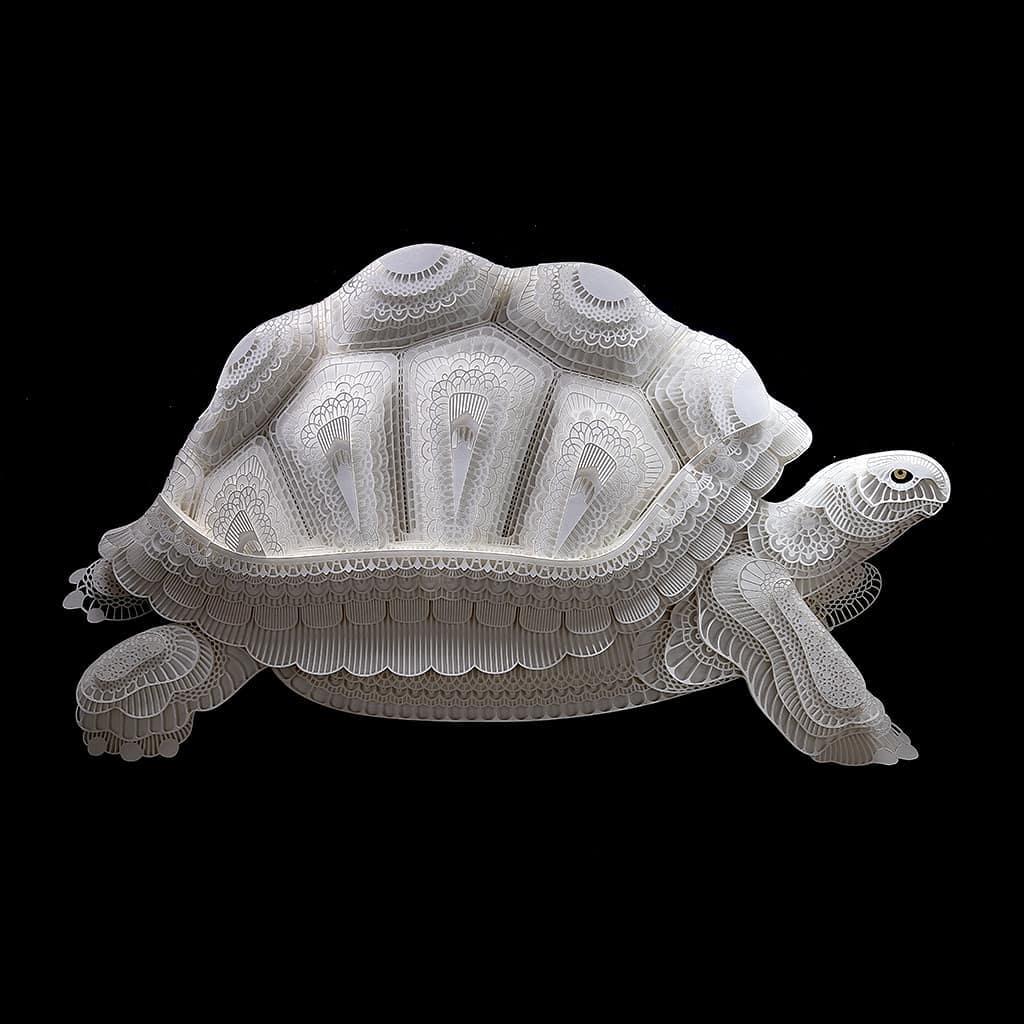 Filipino Sculptor Creates Public Awareness About Endangered Species Through Cut Paper Sculptures 1