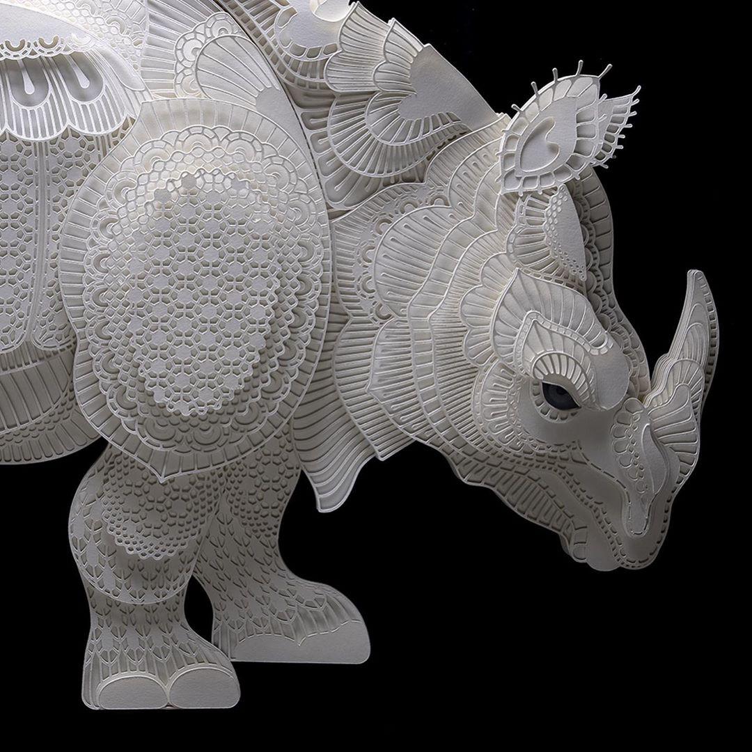 Filipino Sculptor Creates Public Awareness About Endangered Species Through Cut Paper Sculptures 6