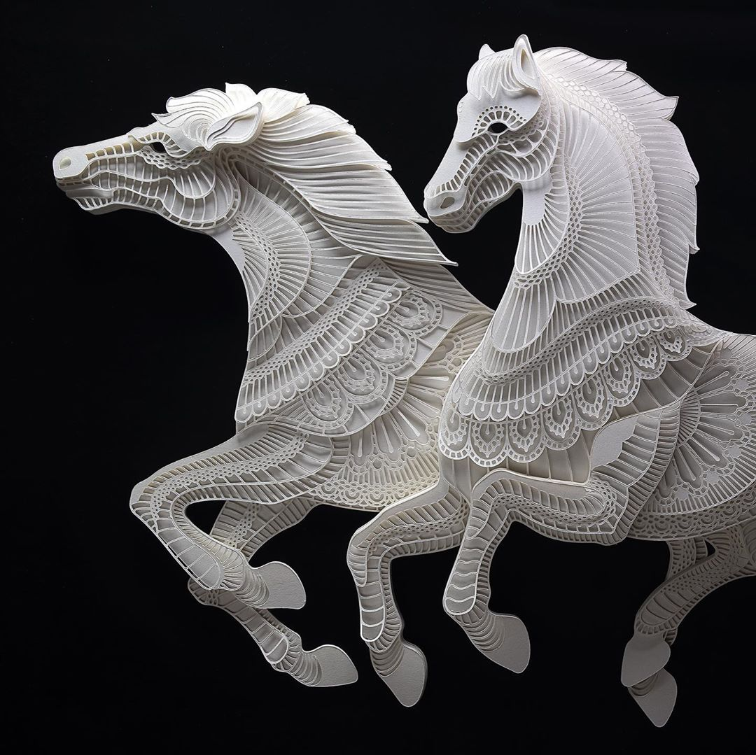 Filipino Sculptor Creates Public Awareness About Endangered Species Through Cut Paper Sculptures 8