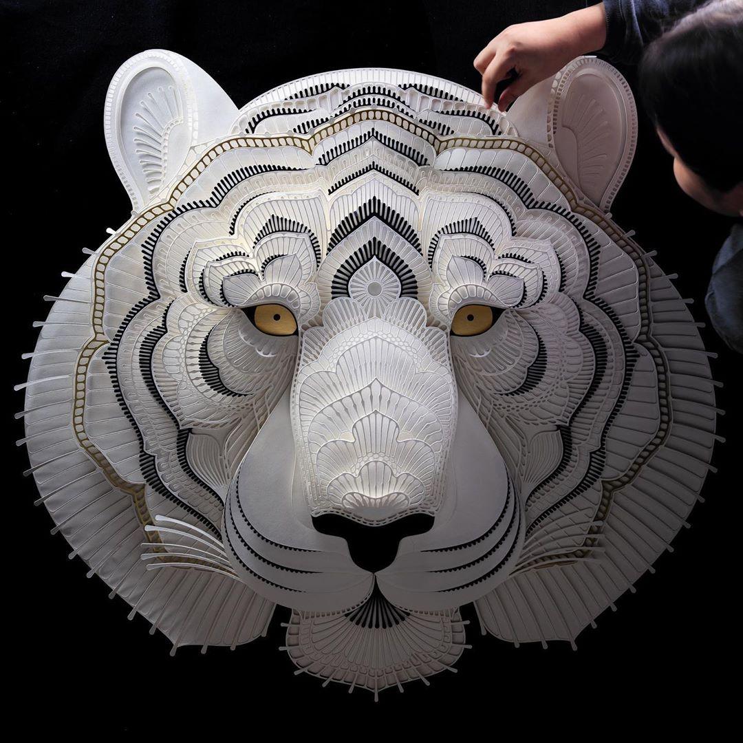 Filipino Sculptor Creates Public Awareness About Endangered Species Through Cut Paper Sculptures 9
