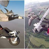 'Birdman' Takes Tourists On Microlight Flight To Give A Thrill Of Flying With The Geese