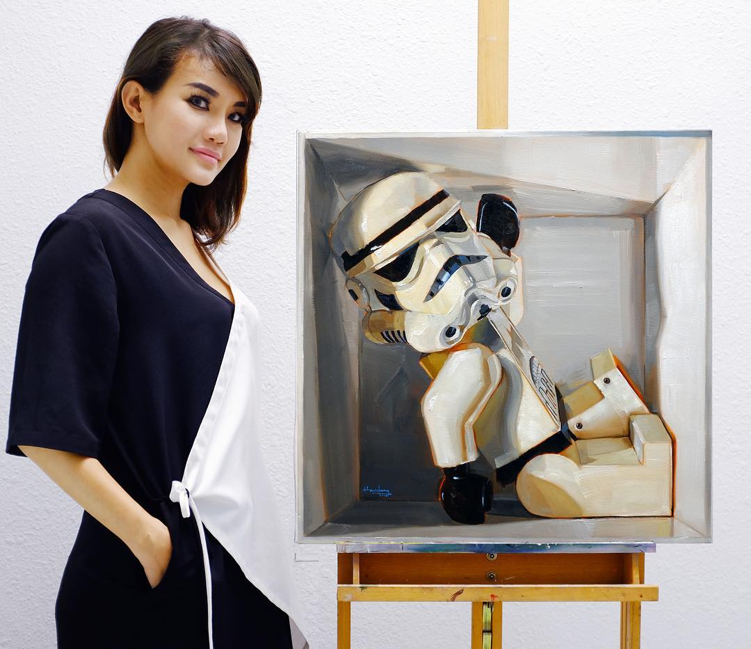 Malaysian Make-Up Artist Transforms Herself Into Artist And Speed Painter 5