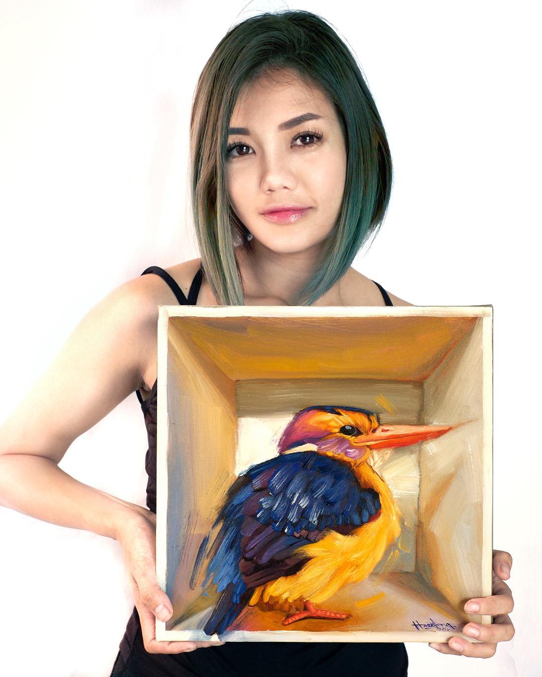 Malaysian Make-Up Artist Transforms Herself Into Artist And Speed Painter 9