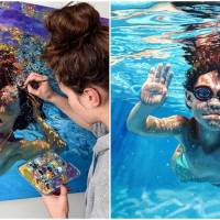 Realistic Underwater Paintings Make The Viewers Feel Submerged In Water