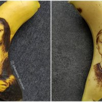 Artist Uses Banana Peel as a Canvas to Create Banana Peel Art