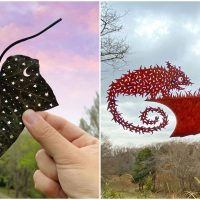Japanese Artist Afflicted with ADHD Creates Incredible Leaf Cutouts