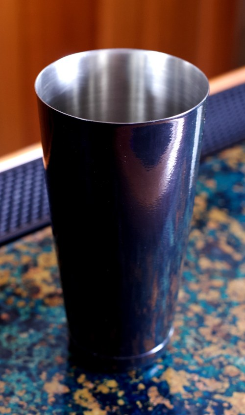 28 oz Black Powder Coated Cocktail Shaker Tin