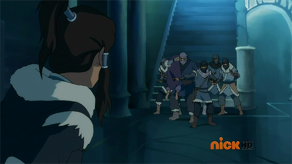 Korra sees rebels kidnapping Unalaq