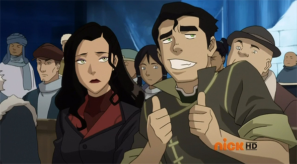 Bolin's double thumbs up.